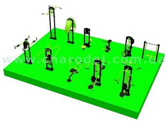 Проект спортивной площадки - 12 (63 м.кв.)