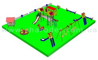 Проект детской площадки - 7 (195 м.кв.)