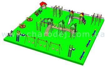 Проект детской площадки - 9 (361 м.кв.)