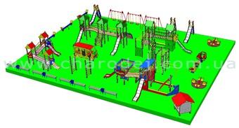 Проект детской площадки - 10 (456 м.кв.)