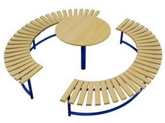 Лавочка столик (круглый) ДП316
