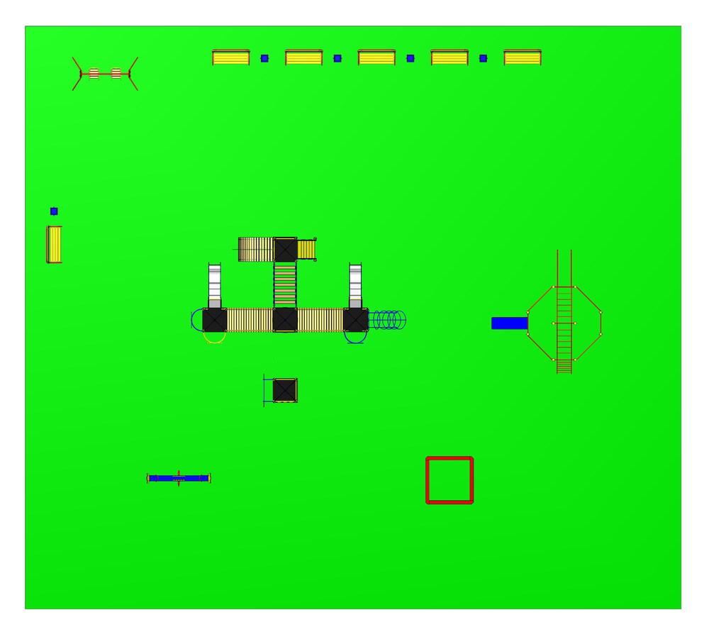 Проект детской площадки 15 (24х27)