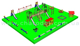 Проект детской площадки - 8 (270 м.кв.)