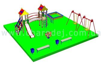 Проект детской площадки - 2 (81 м.кв.)