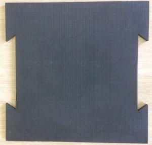 Резиновая плитка с креплением «Ласточкин хвост»