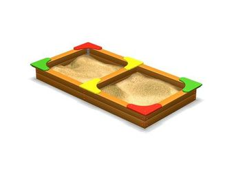 Песочница сдвоенная ДП419