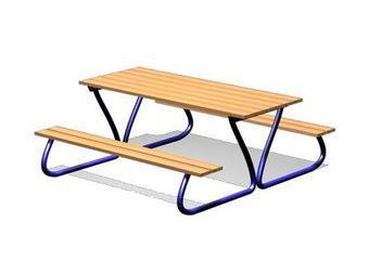 Стол со скамейками ДП314